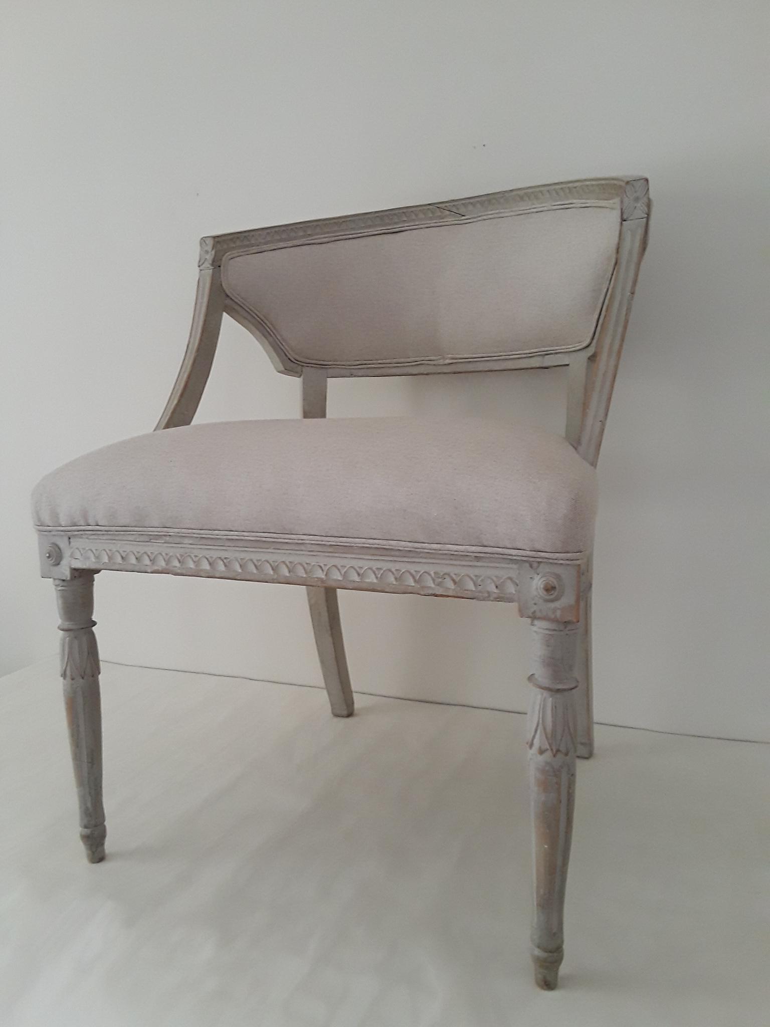 Genial Gustavian (Swedish) Pair Of Swedish Gustavian Barrel Chairs For Sale    Image 3 Of