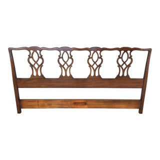 Kindel Furniture Chippendale Style Mahogany King Size Headboard For Sale