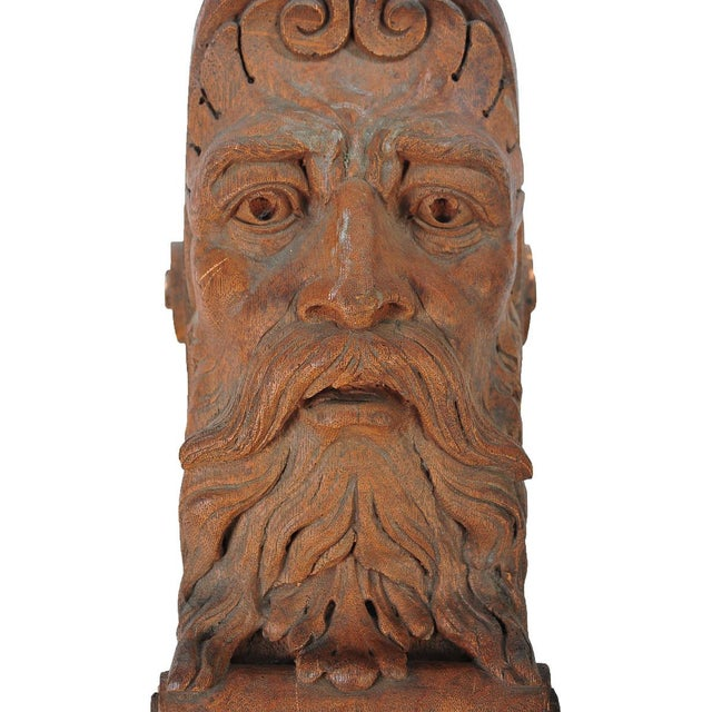 Terracotta Knights Heads - Set of 6 Corbels For Sale - Image 5 of 8