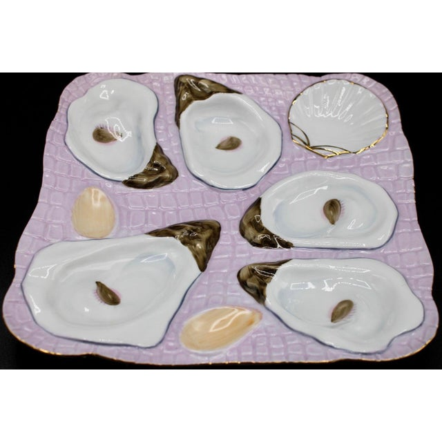 1960s Lavender Blush Oyster Plate For Sale In Tulsa - Image 6 of 10