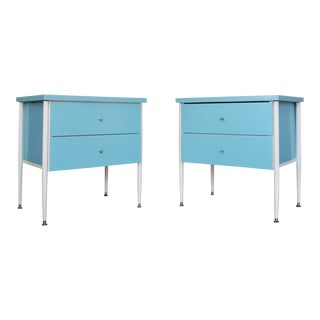 Mid-Century Modern Nightstands Refinished - a Pair For Sale