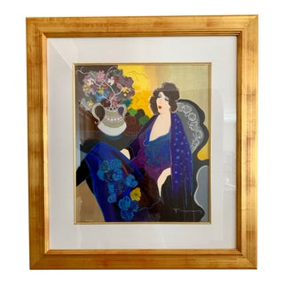 1990s Iztchak Tarkay A Special Night Serigraph Print For Sale