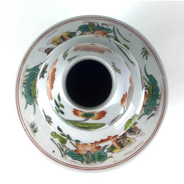 1900 - 1909 Antique Large Chinese Porcelain Vase For Sale - Image 5 of 13