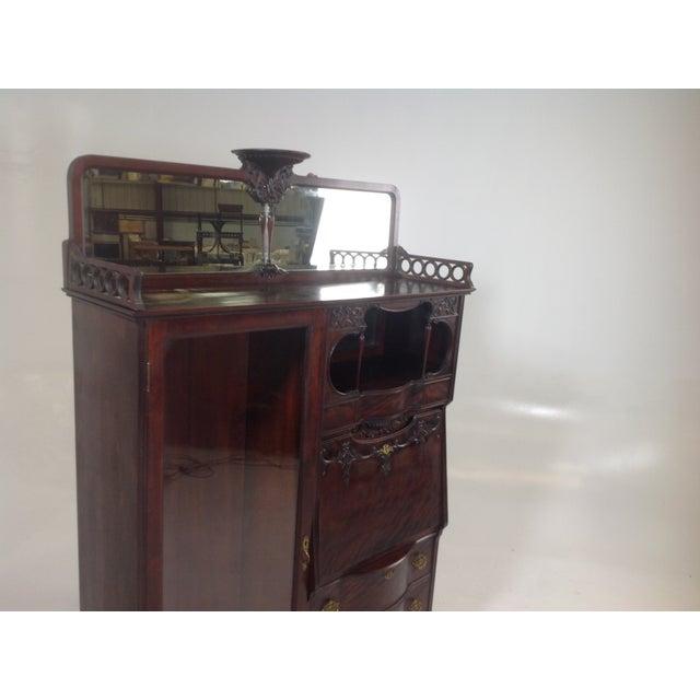 Antique Mahogany Victorian Curio/Desk - Image 4 of 9