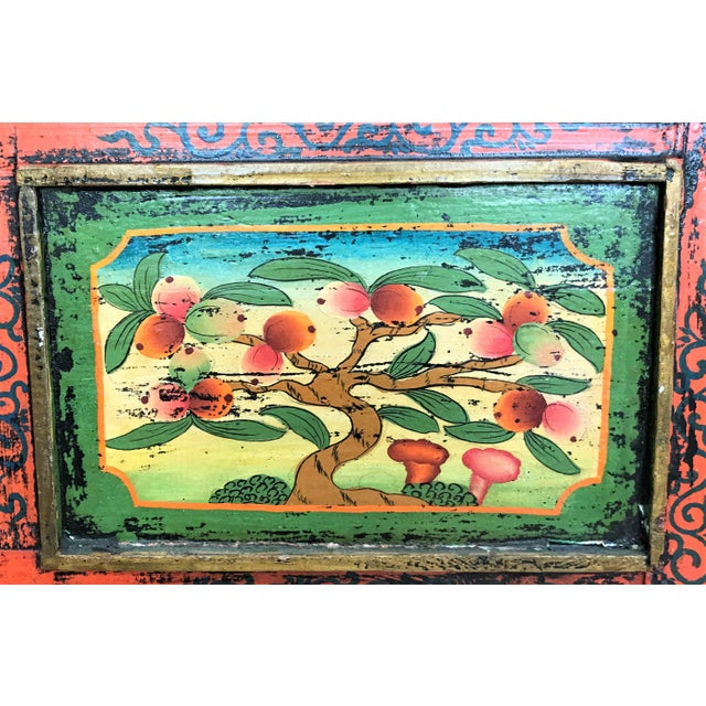 Antique Hand Painted Tibetan Chest For Sale - Image 10 of 10