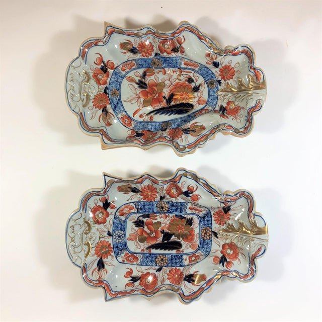 Pair Antique English Mason's Ironstone Platters, Circa 1860. For Sale - Image 4 of 4