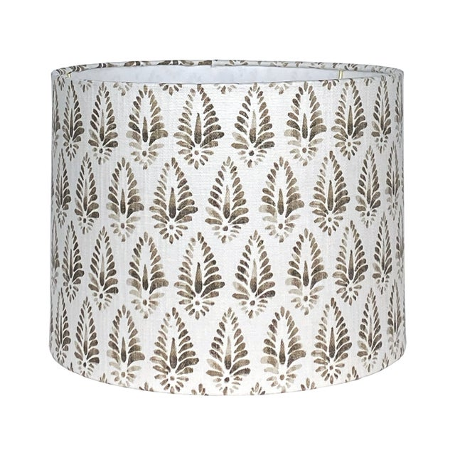 Not Yet Made - Made To Order Brown Patterned Lamp Shade For Sale - Image 5 of 5