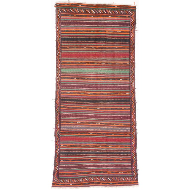 "Vintage Tribal Persian Kilim - 5'1"" X 11'0"" - Image 1 of 2"