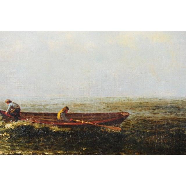 """Harry J. Sunter 1880 """"Fishermen Offshore"""" Painting - Image 5 of 9"""