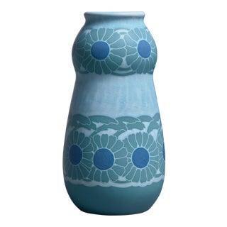 Josef Ekberg polychrome sgraffito ceramic vase for Gustavsberg, 1910 For Sale