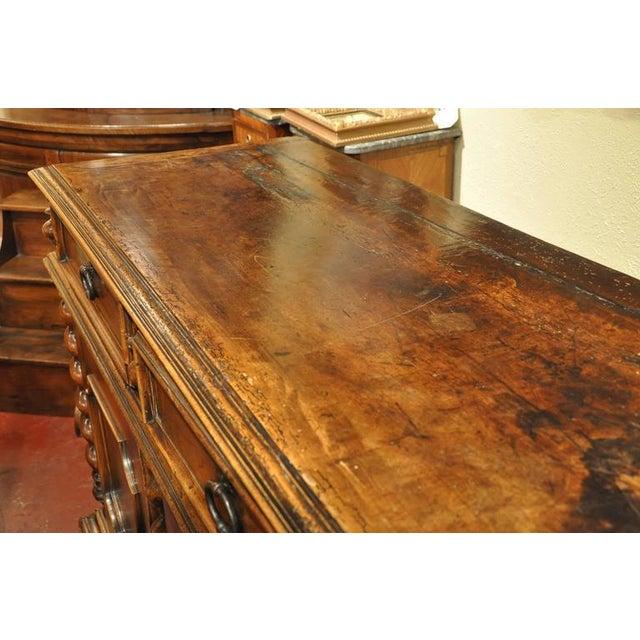 French French Louis XIII Carved Walnut Buffet For Sale - Image 3 of 8