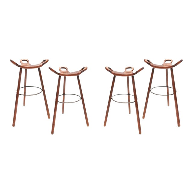 Set of Four Carl Malmsten Bar Stools For Sale