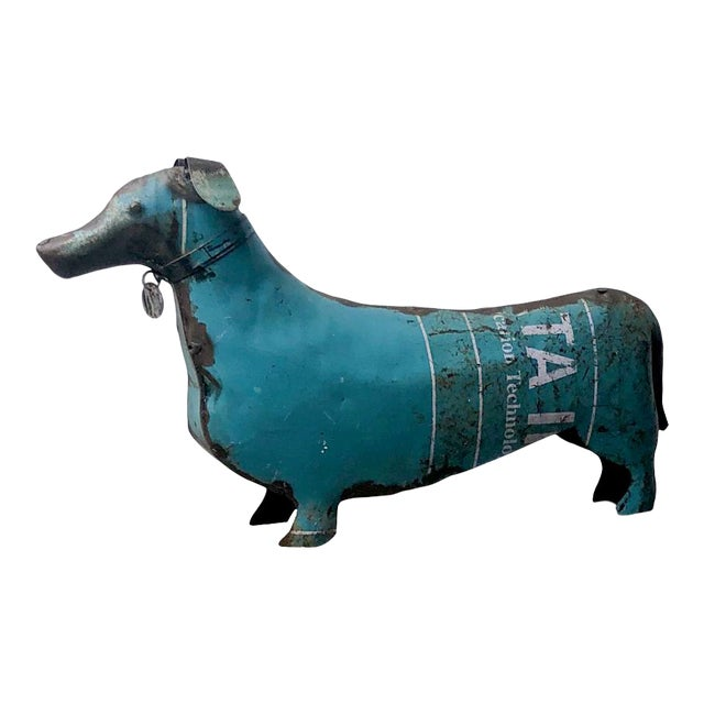 Folk Art Tole Dachshund, United States Circa 1900 For Sale