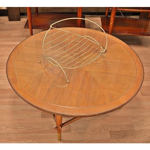 Gold Mid-Century Atomic Era Magazine Basket For Sale - Image 8 of 10