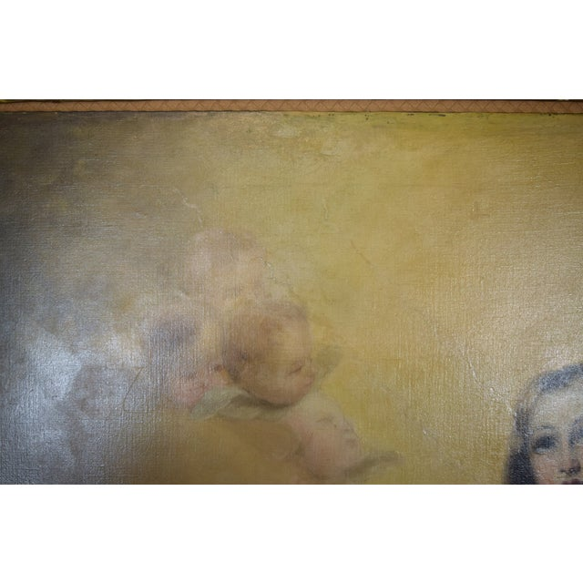 """""""The Immaculate Conception"""" Oil Painting After Giovanni Battista Tiepolo For Sale - Image 9 of 13"""