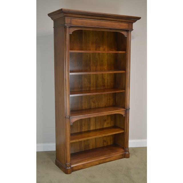 Sligh Empire Style Tall Cherry Open Bookcase