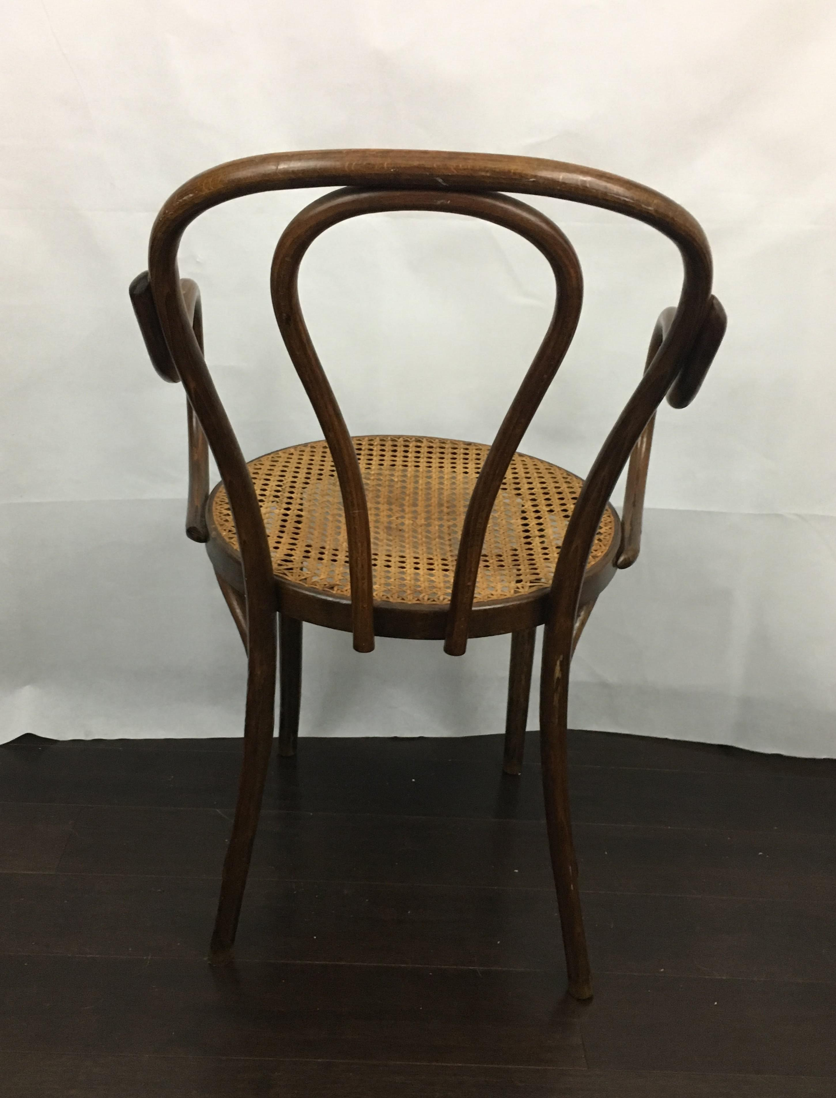 Vintage Bentwood Arm Chair   Image 3 Of 11