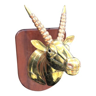 1970s Mid-Century Modern Sergio Bustamante Sculpture of Gazelle For Sale