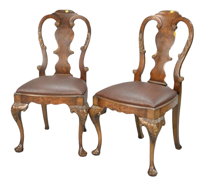 smith watson george i style burlwood chairs a pair chairish rh chairish com Burlwood Cigar Chair Burlwood Cigar Chair