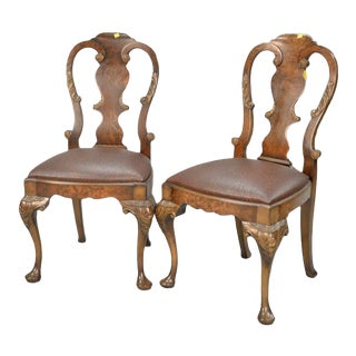 Smith & Watson George I-Style Burlwood Chairs - a Pair