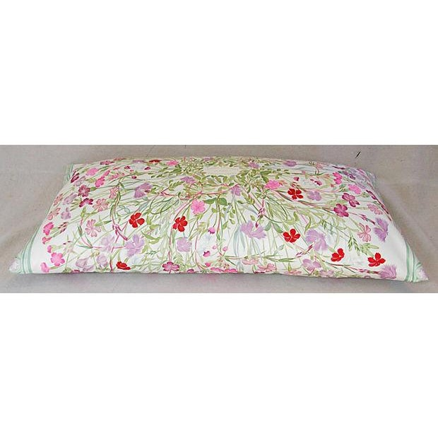 Niki Goulandris Hermes French Floral Silk Pillow For Sale - Image 5 of 8