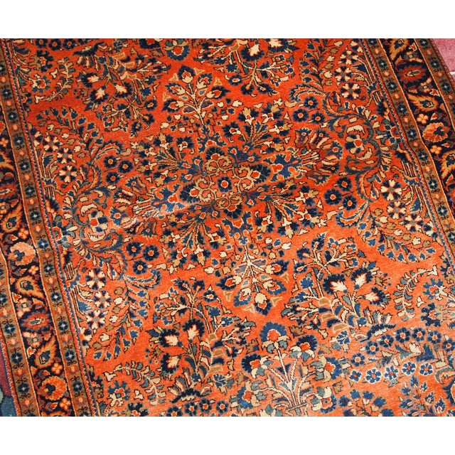1920s, Handmade Antique Persian Sarouk Rug For Sale - Image 10 of 13
