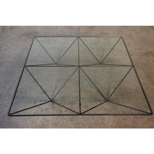 Glass Paolo Piva Alanda Geometric Glass Coffee Table for B&b Italia, 1980s, Italy For Sale - Image 7 of 13