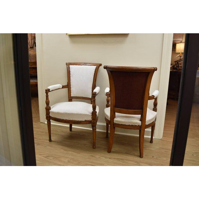 Late 19th Century French Directoire Style Armchairs - a Pair - Image 3 of 10