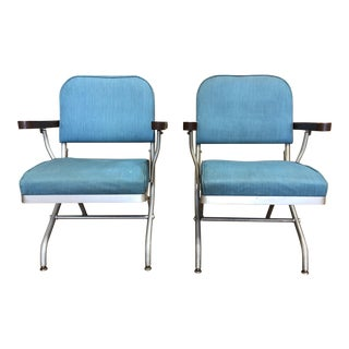Mid-20th Century Mayfair Industries Warren McArthur Folding Chairs For Sale