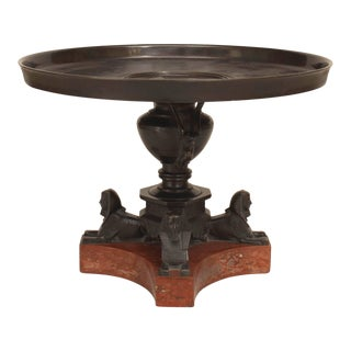 """An Italian Neo-Classic """"Grand Tour"""" Bronze Tazza Resting on Sphinx Figures For Sale"""