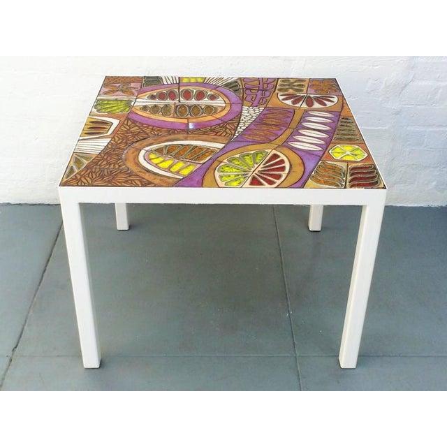 Mid-Century Modern Studio Ceramic Tile Top Table by Brent Bennett For Sale - Image 3 of 10