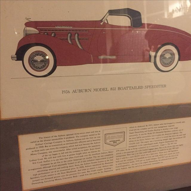 Vintage Framed 1936 Auburn Model 851 Speedster Car Print - Image 9 of 9