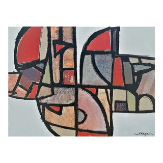 """""""Stained Glass Gone Awry"""" by Kenneth Joaquin (B. 1948) For Sale"""