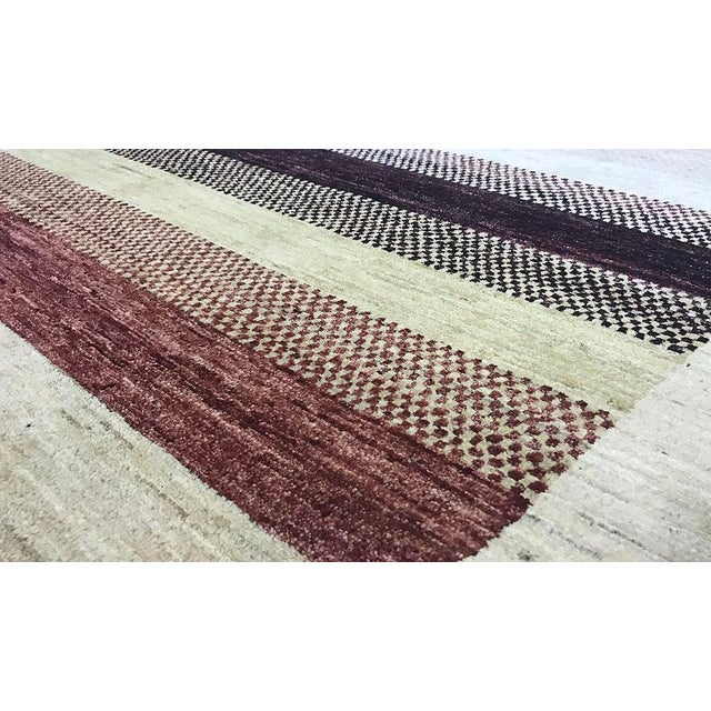 Contemporary Hand Woven Rug - 4'2 X 5'7 - Image 3 of 4