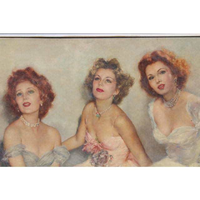 "Mid 20 C. Massive Painting of ""Gabor Sister"" by Artist Pal Fried For Sale - Image 10 of 10"