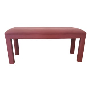 1970s Milo Baughman Style Parsons Upholstered Bench For Sale