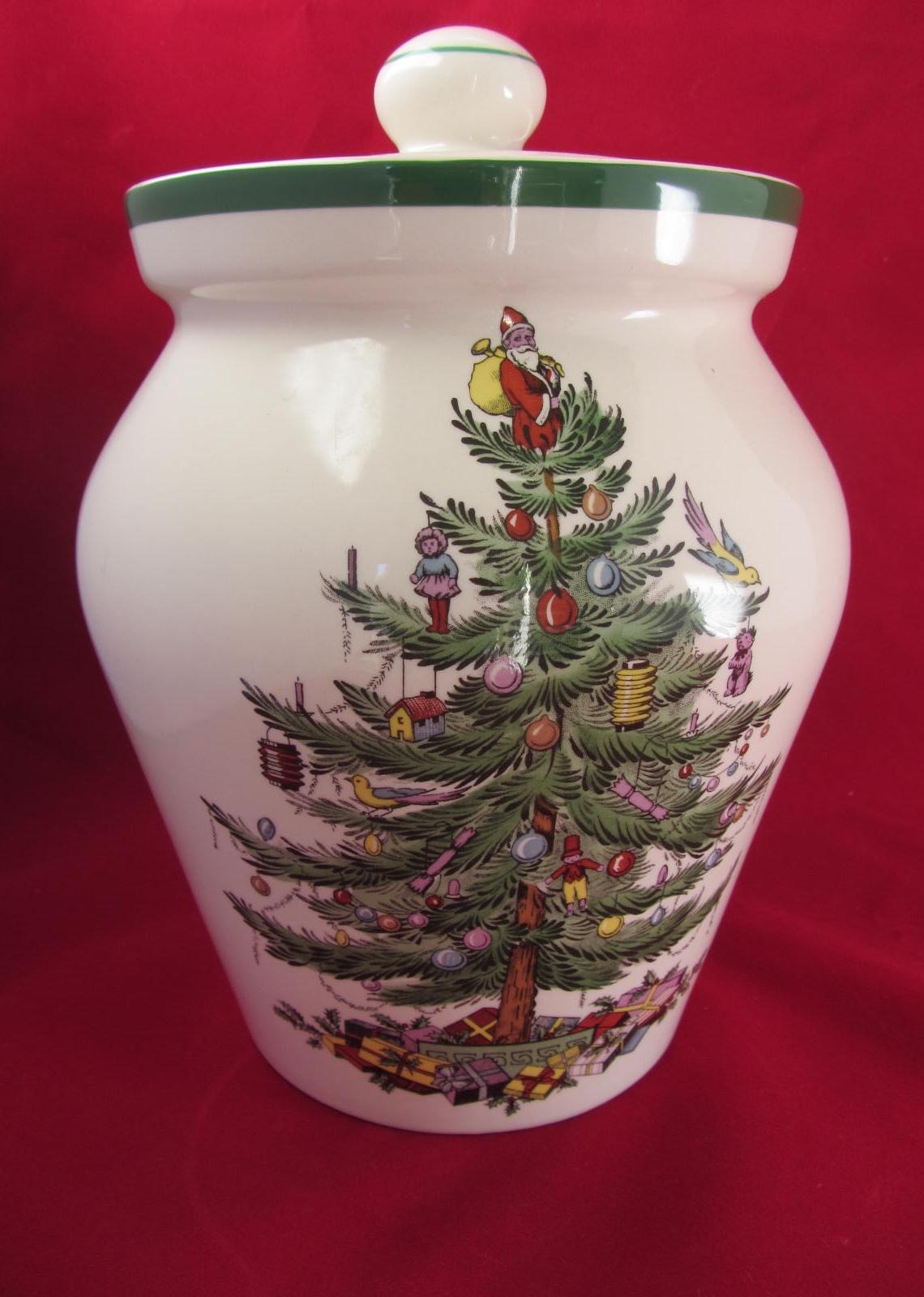 Spode Christmas Tree Cookie Jar   Image 2 Of 6
