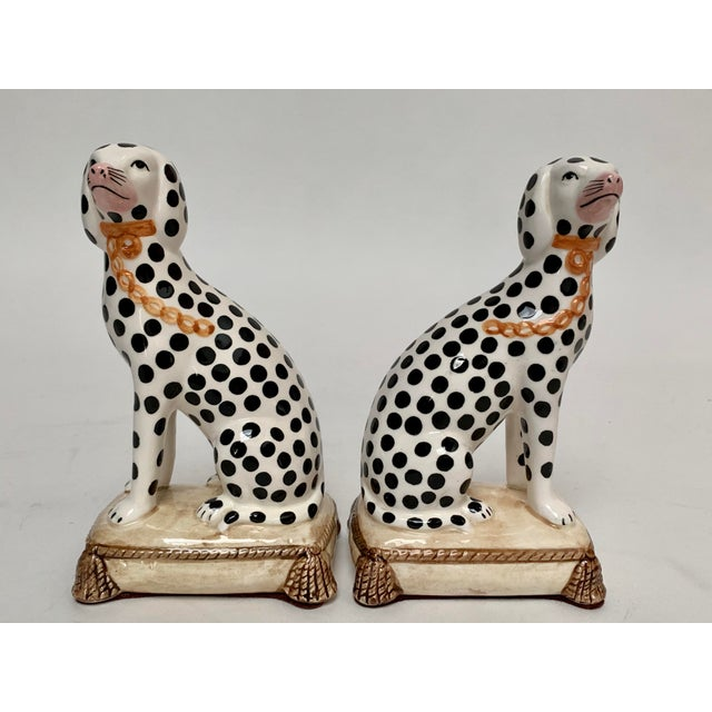 Tan Staffordshire Style Porcelain Dalmatian Dog Bookends – a Pair For Sale - Image 8 of 8