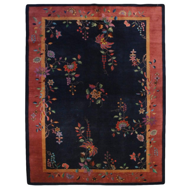 """Chinese Art Deco Rug - 73"""" x 105"""" For Sale"""