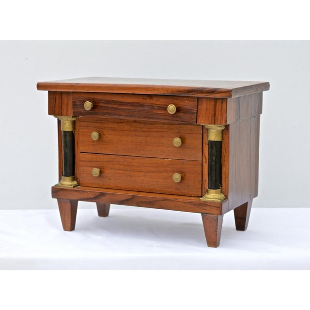 Miniature Italian Neoclassical Tabletop Commode For Sale - Image 9 of 9