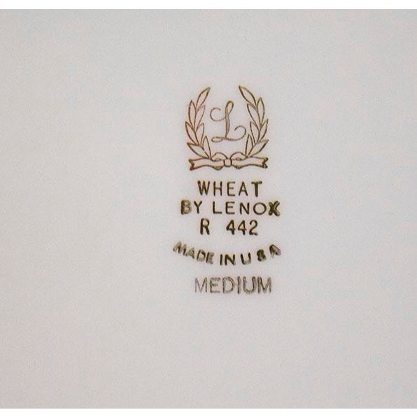 Lenox 1950s Lenox China Wheat Pattern Platter For Sale - Image 4 of 6