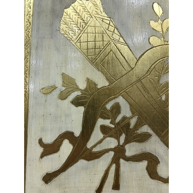 20th Century Italian Giltwood Florentine Room Divided Screen Hollywood Regency For Sale - Image 9 of 13