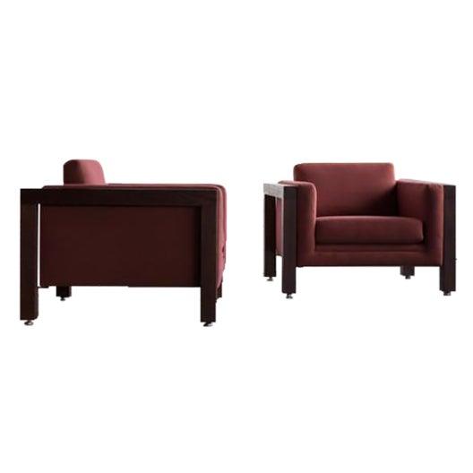 Milo Baughman Thayer Coggin Club Chairs - Pair - Image 1 of 5