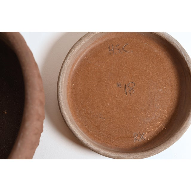 Ceramic Stan Bittters Signed Thumb Pot and Tray for Hans Sumpf Company For Sale - Image 7 of 10