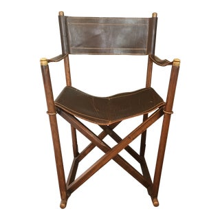Vintage Mid Century Valenti Almazan SA/Sarreid Campaign Chair For Sale