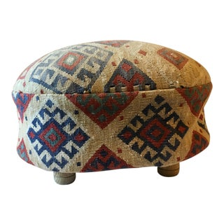Turkish Kilim Pouf Footstool