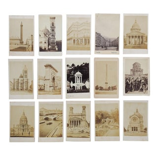 Antique Collection Grand Tour Architecture Photographs - Set of 15 For Sale