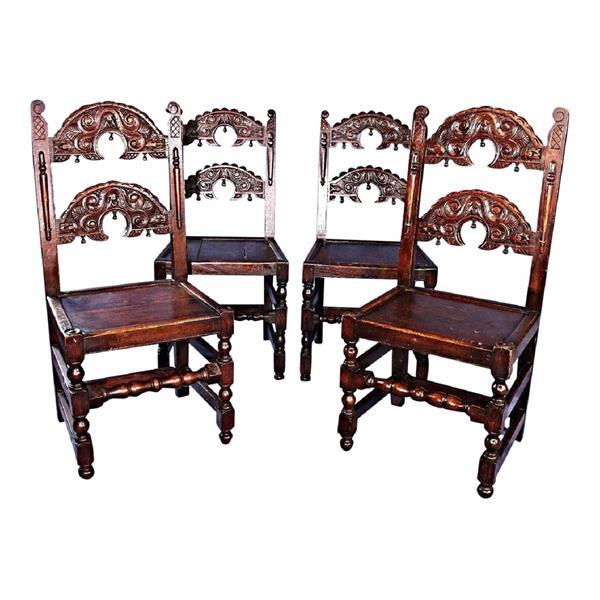 Colonial Revival Dining Chairs - Set of 4 For Sale - Image 9 of 9