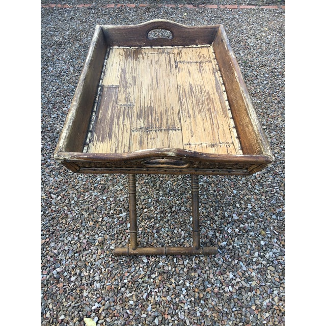 1950s 1950s Boho Chic Tray Table With Folding Base For Sale - Image 5 of 10