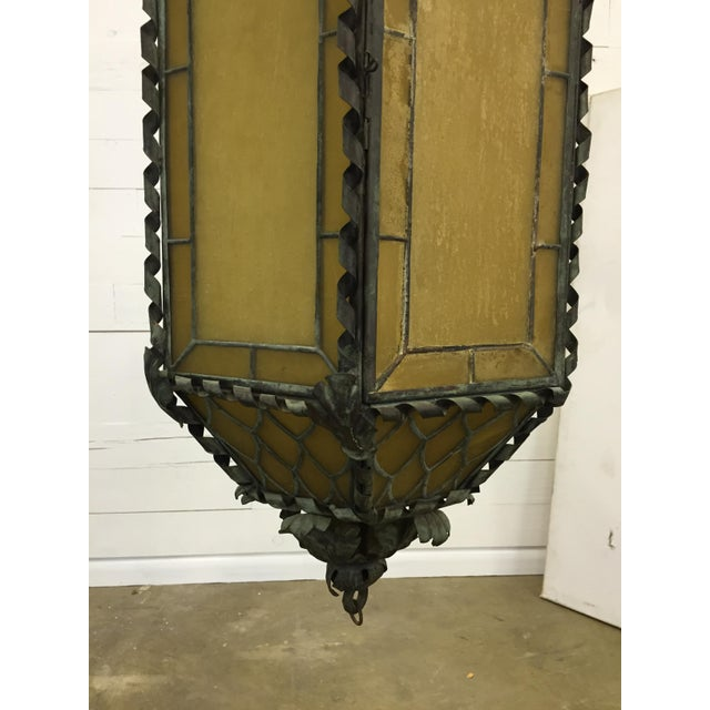 1920s American Copper & Bronze Lantern For Sale - Image 4 of 6